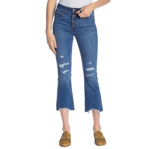 Madewell Cali Demi-Boot Distressed Jeans
